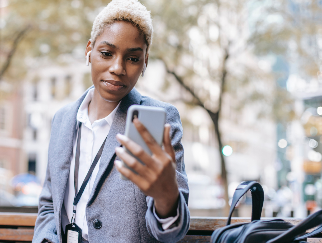 Woman Reading Text Message